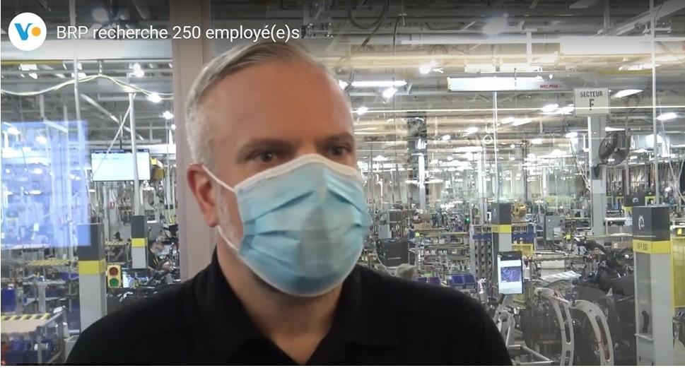 Entrevue-vidéo de Carl Beauparlant- BRP recherche 250 employé(e)s
